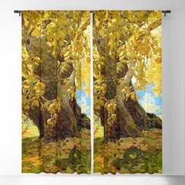 Sycamore in Autumn, Orange County Park Landscape by Edgar Alwin Payne Blackout Curtain