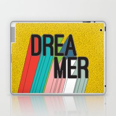Dreamer Typography Color Poster Dream Imagine Laptop & iPad Skin