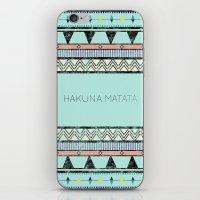 hakuna iPhone & iPod Skins featuring Hakuna Matata by Lala Vicencio