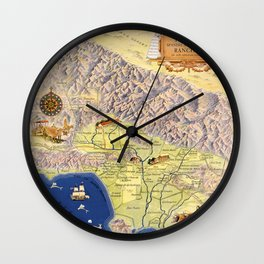 The old Spanish and Mexican ranchos of Los Angeles County Wall Clock
