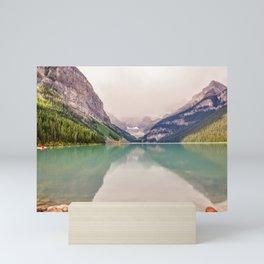 Beautiful water color at lake Louise, Canada Mini Art Print