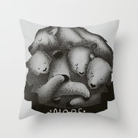 nope Throw Pillows featuring Nope by Tobe Fonseca