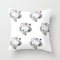 ouija Throw Pillows featuring Ouija by Rebecca Louise