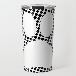 Dog Paw Print With Halftone Background Travel Mug