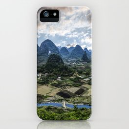 Karst Pinnacle landscape of Guilin iPhone Case