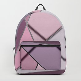 Mosaic tiled glass with black rays Backpack
