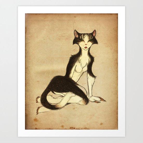 Miss Puss Art Print