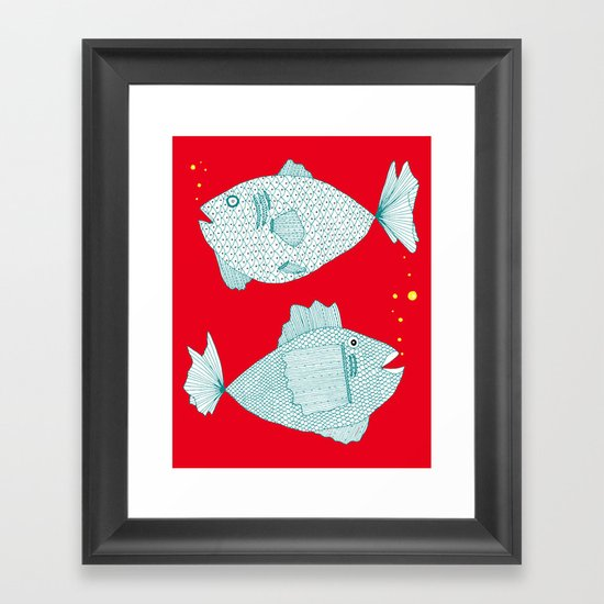 Two Old Fish Framed Art Print