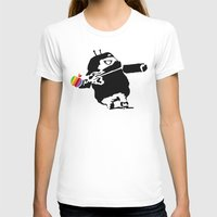 banksy T-shirts featuring Banksy + Android = Bankdroid by Williams Davinchi