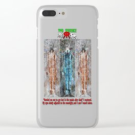 The Thin Man story by Two Sentence Horrors Clear iPhone Case