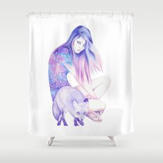 Galaxy Wanderer Shower Curtain