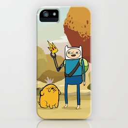 Finn the Human and Jake the Dog iPhone Case