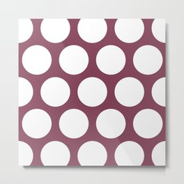 Large Polka Dots: Mulberry Metal Print