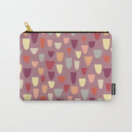 Nougat Mid-Century Pattern Carry-All Pouch