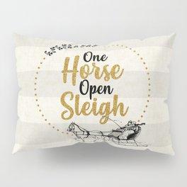 One Horse Open Sleigh Pillow Sham