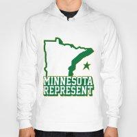 minnesota Hoodies featuring Minnesota Represent by MNREPSHOW