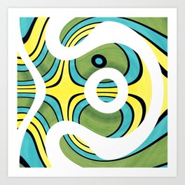 Swirly Wirly Art Print