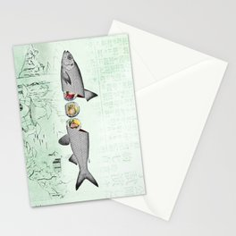 fresh sushi Stationery Cards