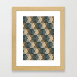 Caffeination Geometric Hexagonal Repeat Pattern Framed Art Print