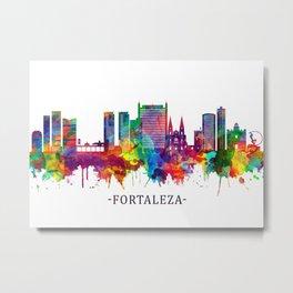 Fortaleza Brazil Skyline Metal Print