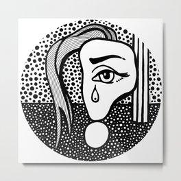 Roy Lichtenstein - Girl with Tear Metal Print