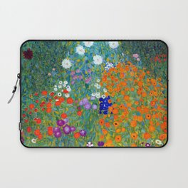 Gustav Klimt Flower Garden Laptop Sleeve