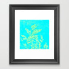 nature -yallow turquoise Framed Art Print