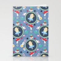 alice wonderland Stationery Cards featuring Wonderland by Emily Golden