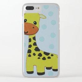 Baby giraffe Clear iPhone Case
