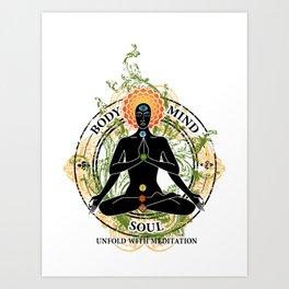 Yoga : Mind Body and Soul KUNDALINI Art Print