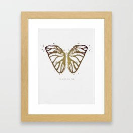 Like a Moth to a Flame Framed Art Print