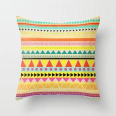 BRIGHT AZTEC Throw Pillow