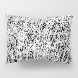 Web Of Confusion - Black and white, abstract painting Pillow Sham