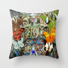 Butterfly in Cappella Sistina SistineChapel Throw Pillow