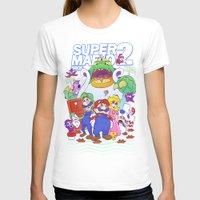 mario bros T-shirts featuring Mario Bros. 2 nostalgia  by Damon Fernandez