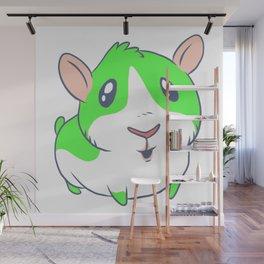Cute & Kawaii Cartoon Green Guinea Pig Kids Decor Idea Animal Lover Art Wall Mural