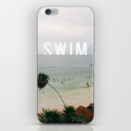 Life's A Beach. So Swim. iPhone Skin