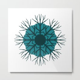 Solid Roots Wreath (Green) Metal Print