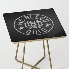 WeBleedOhio Monogram Logo Stamp Side Table