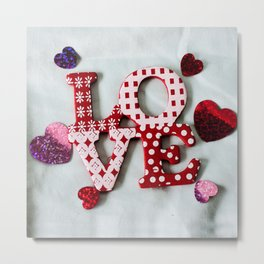 LOVE photography print Metal Print