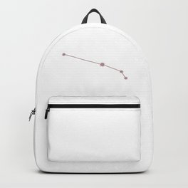Aries Zodiac Constellation Neutral Rose Backpack