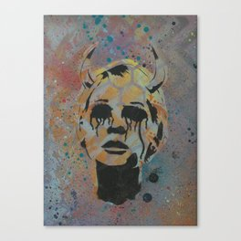 Devil Lady Canvas Print