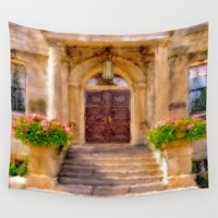 welcome Wall Tapestries featuring Welcome by Mary Timman