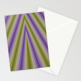 Purple and Green continuous triangle Stationery Cards