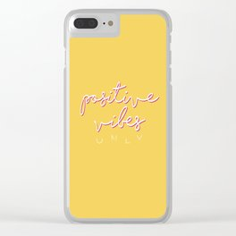 POSITIVE VIBES ONLY Clear iPhone Case