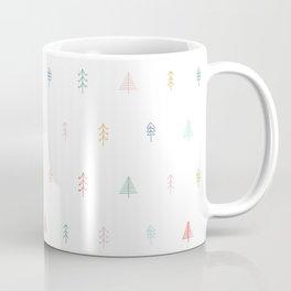 Whimsical Christmas Trees - Vintage Colors Coffee Mug
