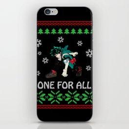 My Hero Academia Ugly Christmas iPhone Skin