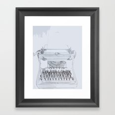 Typed Out Framed Art Print