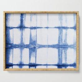 Shibori Blue - Rectangles Serving Tray