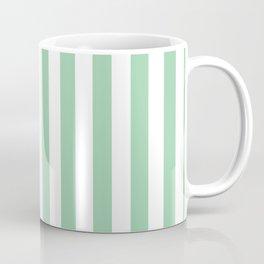 Mint Green Small Even Stripes Coffee Mug